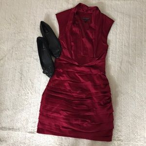 Express Red Ruffle Tier Cocktail Dress NWT Size 0